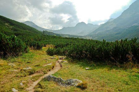 trecking: mountain landscape Stock Photo