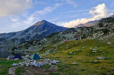 trecking: camping in national park
