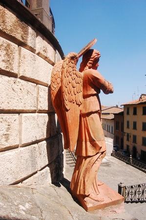 representing: sculpture representing an angel