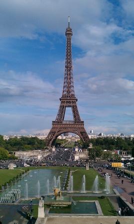 trocadero: eiffel tower, trocadero, paris Stock Photo