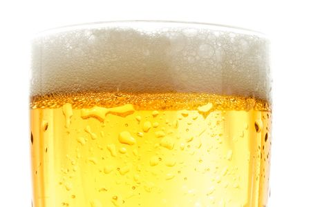Close up of beer pint, gold crisp color Stock Photo - 3734749