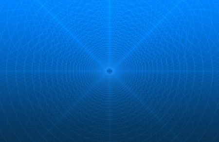 digitally generated image: Digitally generated security pattern (as in the back of checks) simulation over a blue gradient, thumbnail may not fully reflect the amount of fine detail in the image Stock Photo