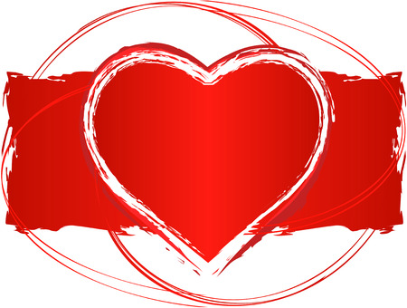 version: Vector Love Heart Design with swirls - In vector version all elements are placed independently and can be reused