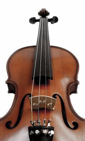 medium shot: Perspective Medium shot of Violin over white background