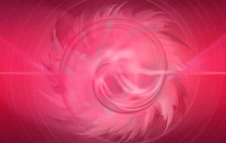 Digitally generated pink flower abstract, based on fractal patterns photo