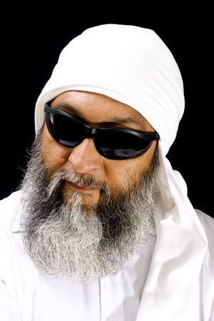 Stock image of Arab man wearing sunglasses photo