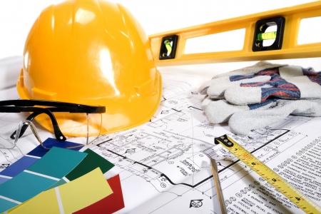 Stock beeld van de verbetering van het huis, bouw of verbouwing concept