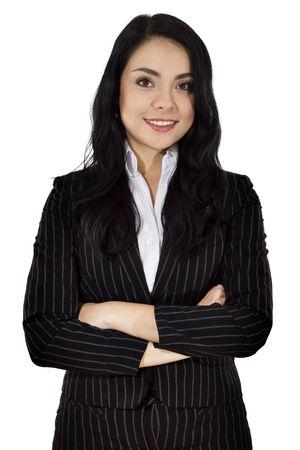 Stock image of businesswoman over white background Zdjęcie Seryjne