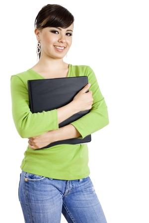 Stock image of female student isolated on white background Stock Photo - 6865274
