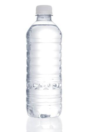 Stock Bild von gereinigtem Wasser Flasche over white background