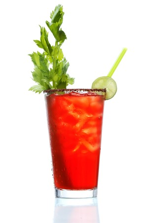 Stock image of Bloody Mary over white background. Find more cocktail and prepared drinks images on my portfolio. Stock Photo - 7294437