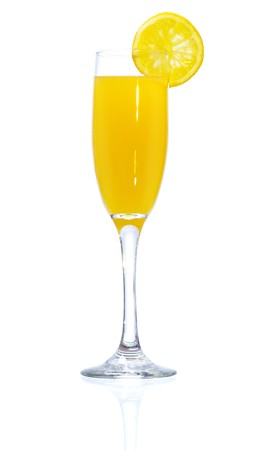alcoholic drinks: Stock image of Mimosa Cocktail over white background. Find more cocktail and prepared drinks images on my portfolio.