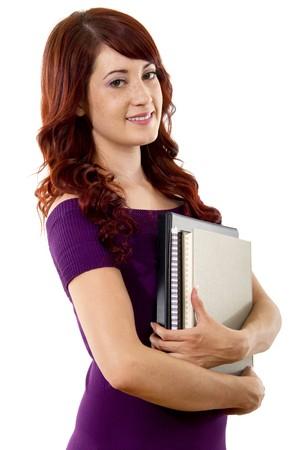Stock image of Female student over white background Stock Photo - 7492002