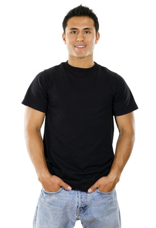 male arm: Stock image of Hispanic Male over white background Stock Photo