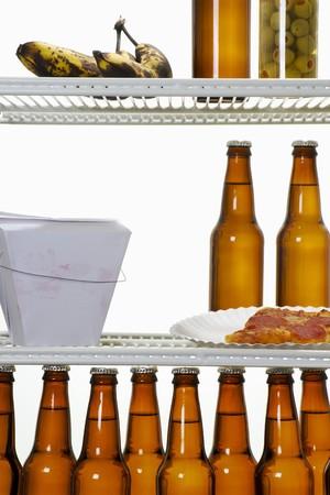 unmarried: Stock imagen interior de refrigerador de un solo hombre  Foto de archivo