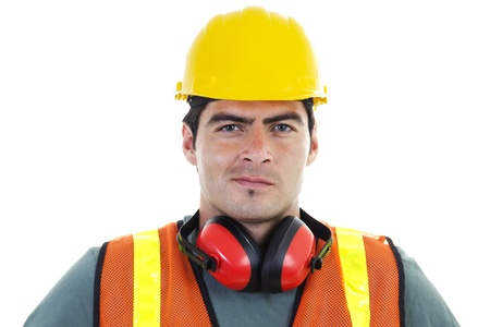 Stock image of construction worker over white background Stock Photo - 8675914