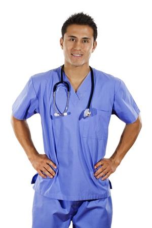 Bild von männlichen Arzt over white background