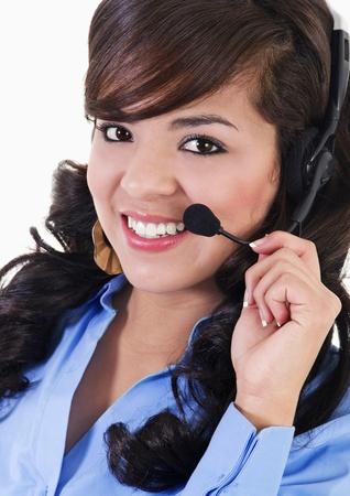 Stock image of female call center representative photo