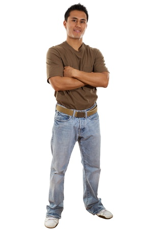 Stock image of confident casual man isolated on white background photo