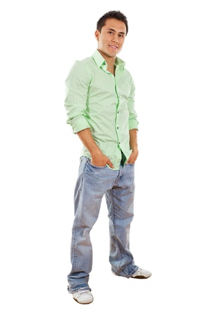 Stock image of casual man isolated on white background Zdjęcie Seryjne
