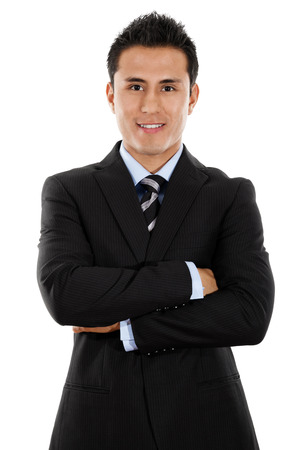 Stock image of young Hispanic businessman isolated on white background Zdjęcie Seryjne