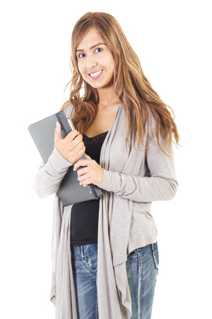 Stock image of casual female student isolated on white background Zdjęcie Seryjne - 42905157