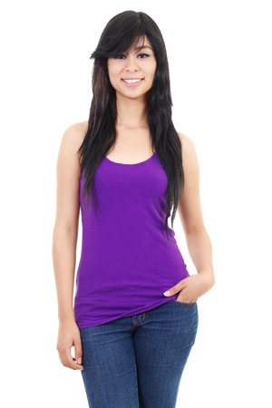 Stock image of casual woman isolated on white background photo