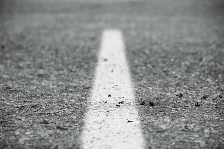 Stock image of paved road, selective focus