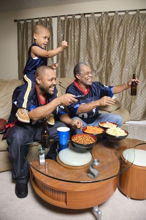 Family watching tv. photo