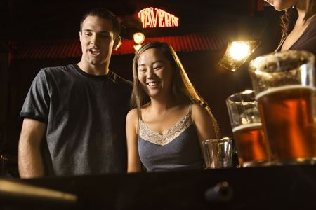Couple at bar. photo