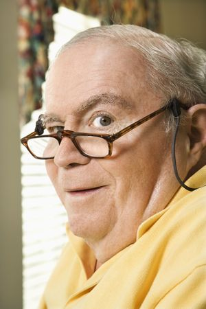 Senior Caucasian  man with bifocals. Stock Photo - 1795611
