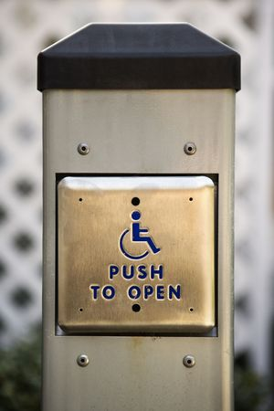 Button for handicapped people.