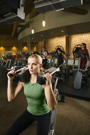 health club: Woman at health club. Stock Photo