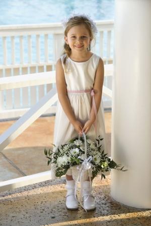 Portrait of flowergirl. Stock Photo - 1806699