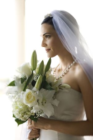 Portrait of bride. photo