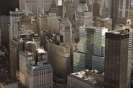 Aerial view of buildings in New York City. Stock Photo - 1826954