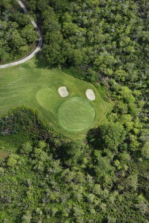 Aerial of golf course. photo