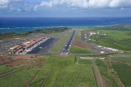 aerial: Maui, Hawaii aeroporto. Archivio Fotografico