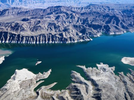 mead: Aerial view of Lake Mead.