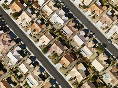 Suburban houses aerial. Stock Photo - 1832214