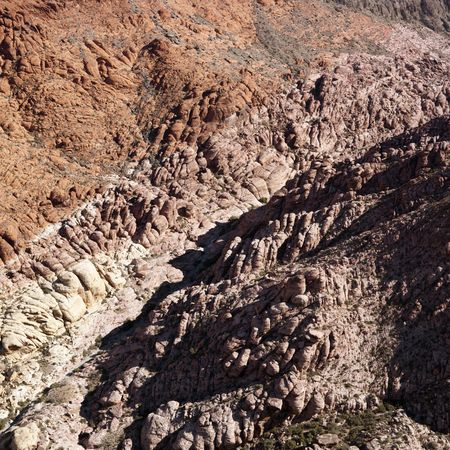 aerial photograph: Aerial view of red rock cliffs in southwest.