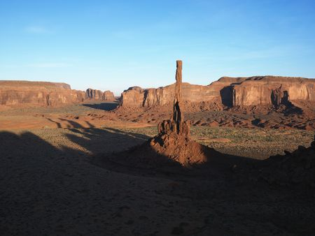 mesas: Buttes and mesas in southwest landscape of Monument Valley, Utah.