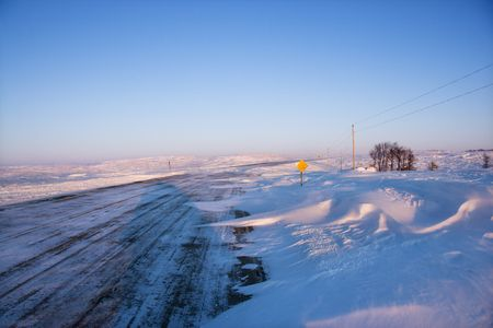 space weather tire: Icy road. Stock Photo