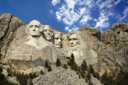 mt: Presidential sculpture at Mount Rushmore National Monument, South Dakota.