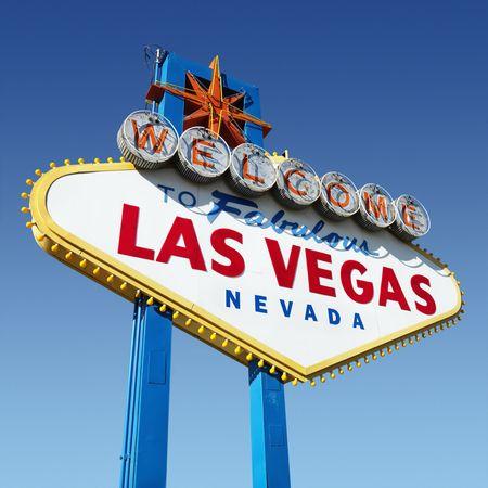 welcome sign: Bienvenue signe pour Las Vegas, Nevada.