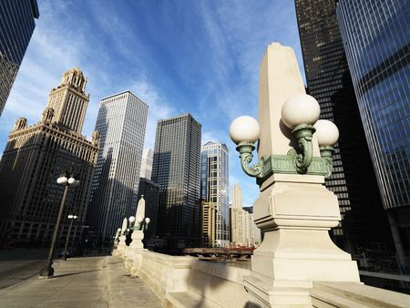 Street scene in Chicago, Illinois. photo