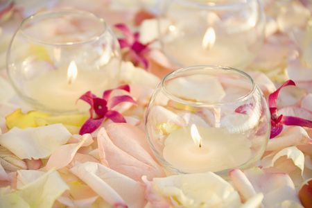 Candles and flowers. Stock Photo - 1850348