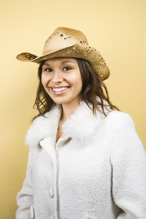 Woman in straw hat. Stock Photo - 1850349