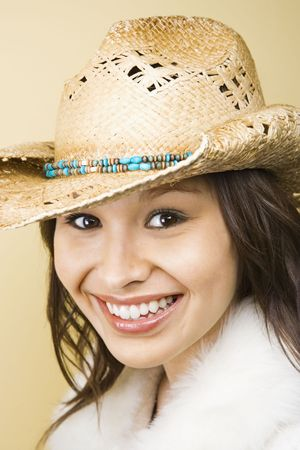 Woman wearing hat. Stock Photo - 1850353