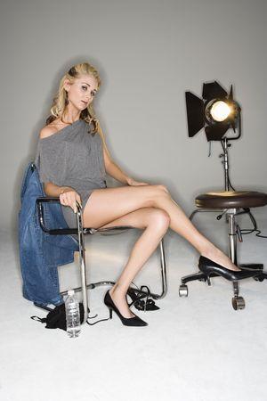 Blond woman. photo
